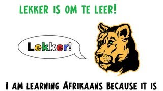 Learn to speak Afrikaans 19 : Because