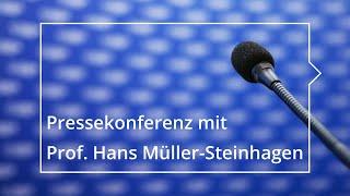 Pressekonferenz mit Prof. Hans Müller-Steinhagen zum Ende seiner Amtszeit als Rektor der TUD