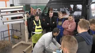 Szkolenie dla początkujących lakierników przeprowadzone przez firmę CSV ze Szczecina.