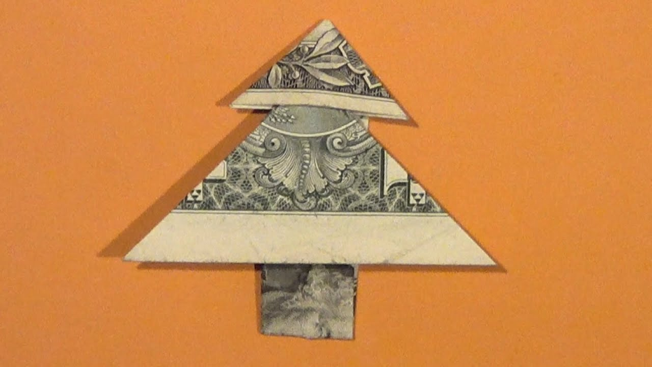 Fold Money Into Christmas Tree