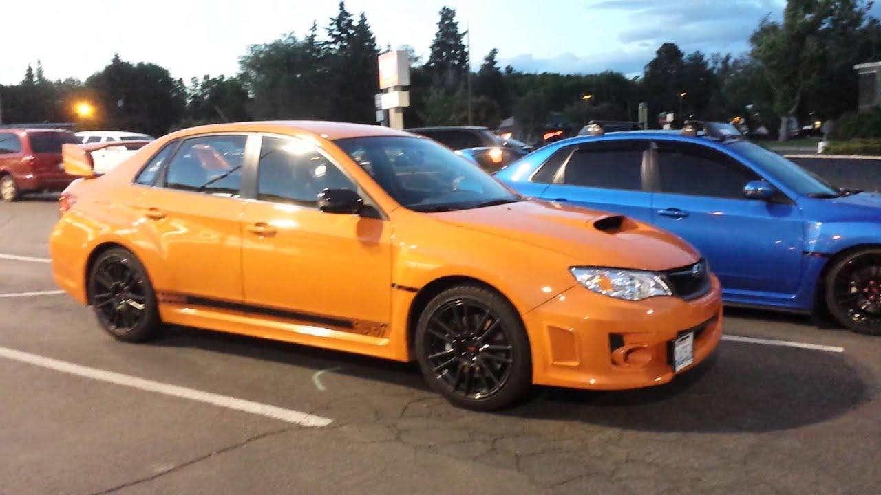 2012 Amp 2013 Subaru Wrx Sti Limited Orange And World