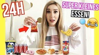 nur SUPER KLEINES MINI ESSEN  für 24 STUNDEN essen *Food Challenge*