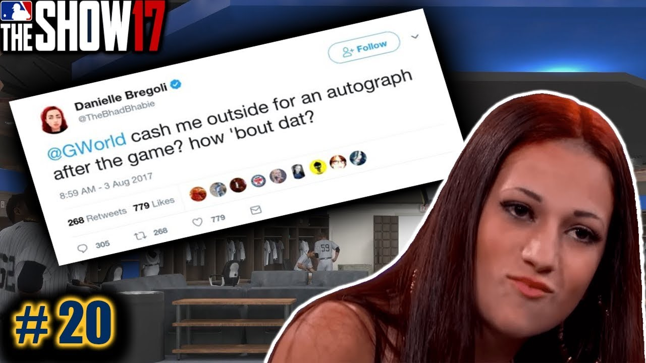 CASH MY OUTSIDE GIRL ASKS FOR AUTOGRAPH (DANIELLE BREGOLI) |MLB The Show 17  Road To The Show|