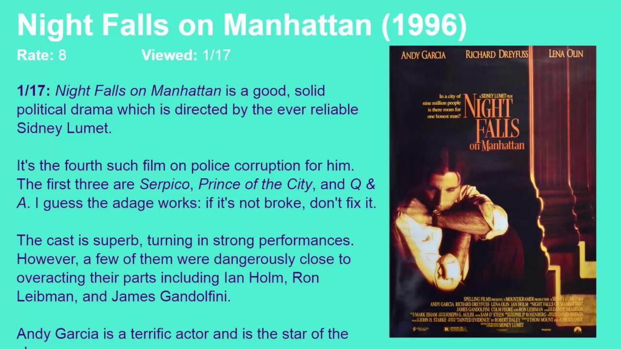 Movie Review Night Falls On Manhattan 1996 Hd Youtube