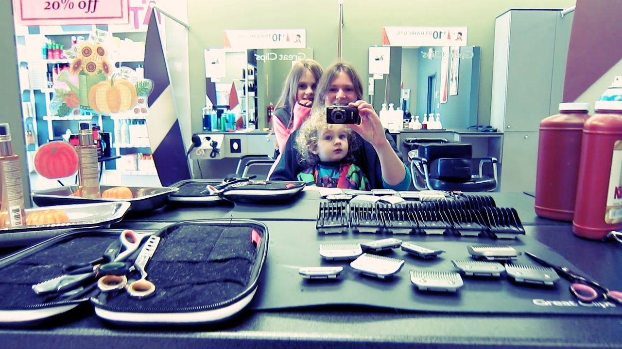 Baby Girl S First Haircut Curly Hair Youtube