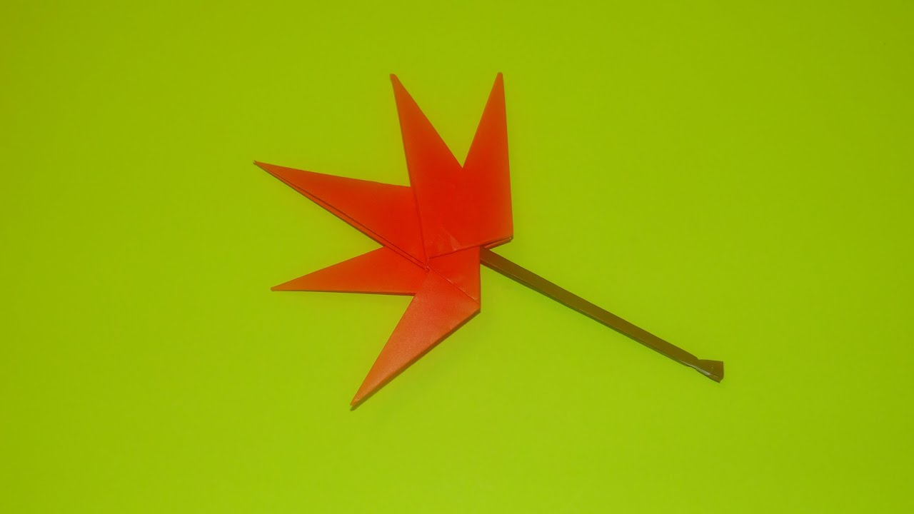 How To Make An Origami Maple Leaf - YouTube - photo#3