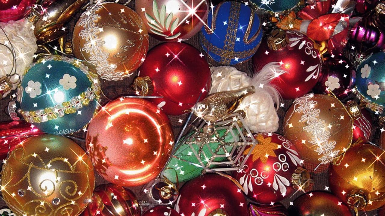 Открытки на 2015 год новый год елка шарики хлопушки