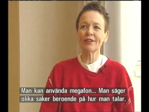 Laurie Anderson - interview Swedish TV 2007