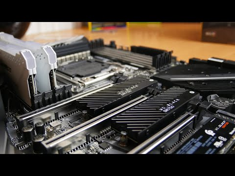 WD Black SN750 - how to install this m.2 NVMe SSD with heatsink unboxing and installation