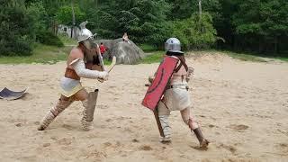 Gladiatorensymposium Museumpark Heilig Land Stichting Orientalis Provocator vs. Thraex