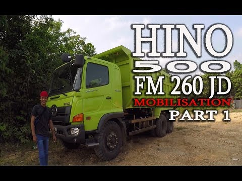 DRIVING HINO 5OO DT FM 260 JD [MOBILISASI] Part 1
