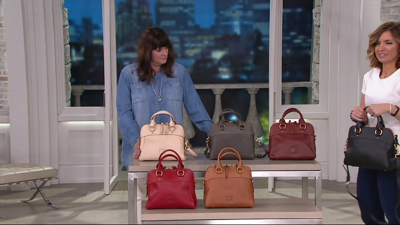 4b14aee98 Dooney & Bourke Florentine Satchel Handbag -Cameron on QVC - YouTube