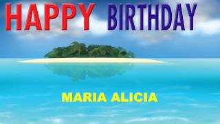 MariaAlicia   Card Tarjeta - Happy Birthday