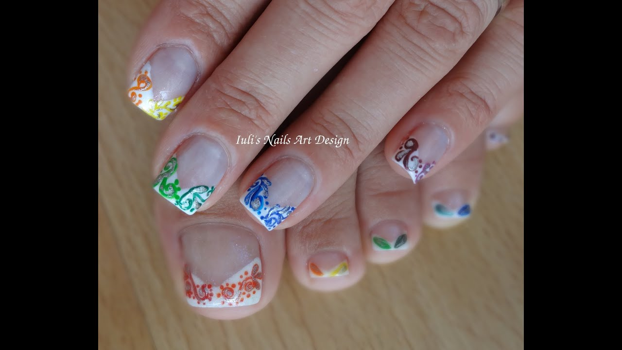 French Manicure And Pedicure Designs Papillon Day Spa