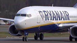 New RyanAir Boeing 737-800 Test Flight Arrival & Hard Brake @ KBFI Boeing Field