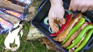 Ultimatives Schichtfleisch fr Ostern aus Dutch Oven K8 outdoor im Wald zubereitet