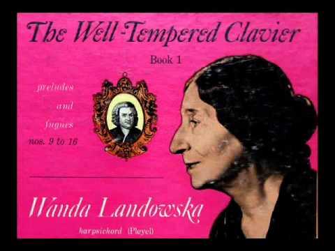 Bach / Wanda Landowska, 1950: Prelude and Fugue No. 12 in F Minor - WTC, Book 1