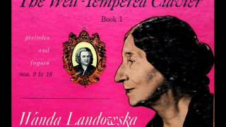 Bach / Wanda Landowska, 1950: Prelude and Fugue No. 12 in F Minor - WTC, Book 1