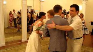 Свадьба Ани и Юры, ЗАГС (3- поздравления, выход из зала)