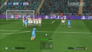 PES 2017 | Manchester City vs Monaco | Full Match & Aguero Free Kick Goal | UEFA Champions League