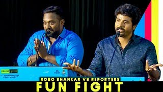 Robo Shankar Fight with Reporters at Mr.Local Press Meet"