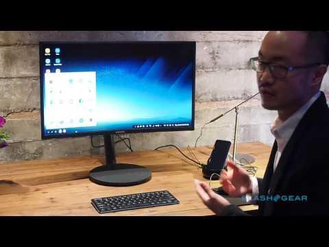"Samsung DeX ""Desktop Experience"" walkthrough on the Samsung Galaxy S8"