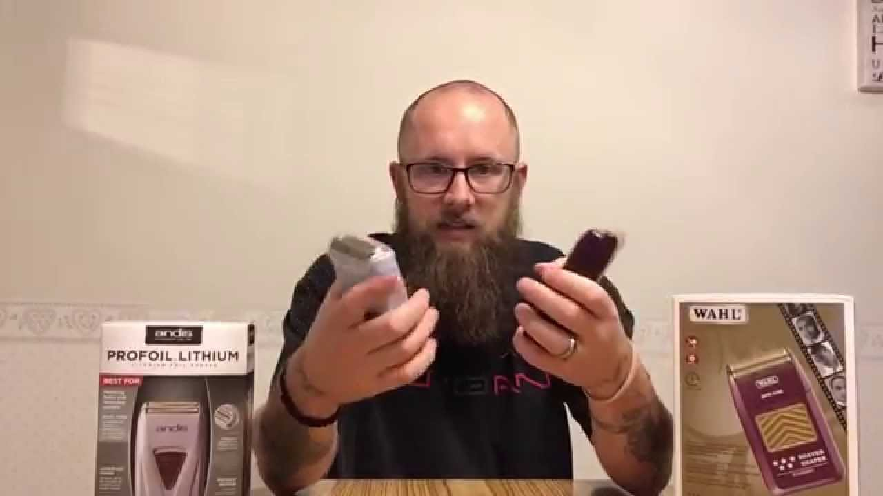 5c6b2bd3c Barber Tool Review: Andis Profoil Lithium AND Wahl Shaver Shaper - YouTube