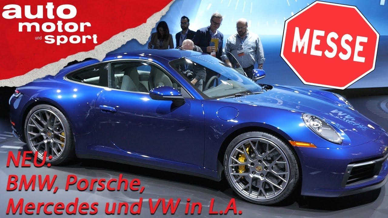 NEU: Alle Highlights aus LA: 911, BMW X7, 340i, 8er Cabrio, AMG GTR Pro | auto motor und sport