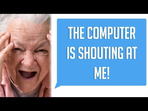 "R/Talesfromtechsupport ""THE COMPUTER KEEPS SHOUTING AT ME!"" (Tales From Tech Support)"