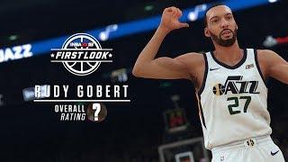 NBA 2k18 Official Rudy Gobert Rating & Screenshot!