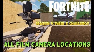 """ALL FILM CAMERA LOCATIONS IN FORTNITE! """"Dance In Front Of Different Film Cameras"""" Challenge Guide"""