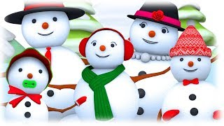 Snowman Finger Family Song | Baby Joy Joy | SillyPop