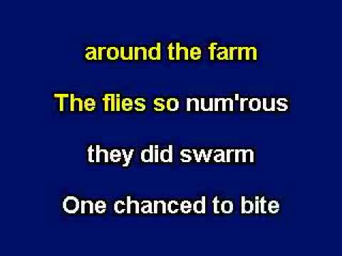 Blue-Tail Fly (Jimmy Crack Corn), karaoke video with lyrics, with demo singer
