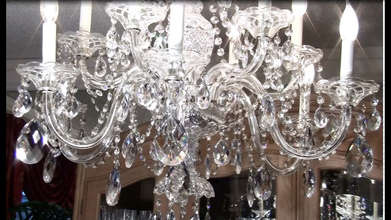 How To Clean A Crystal Chandelier YouTube - Long chandelier crystals