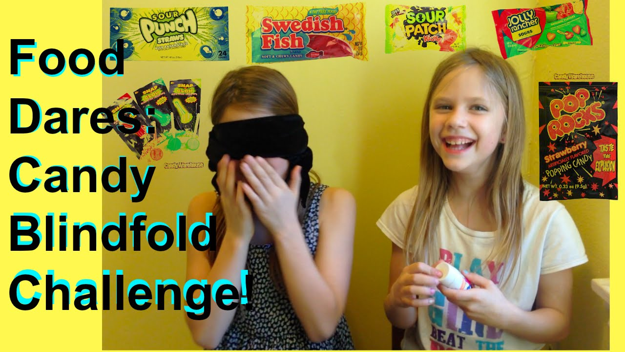 Fun Challenges Candy Taste Test Challenge Blindfold Guess The