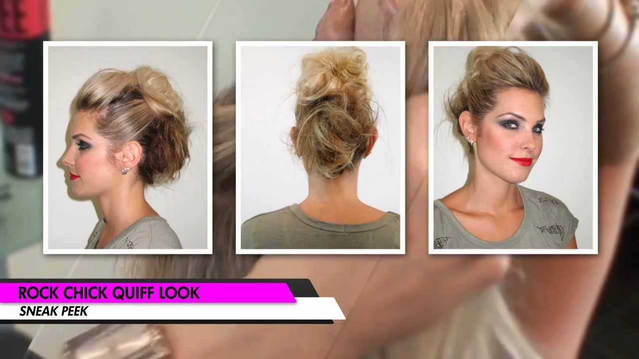 Easy 80s Hairstyles For Short Hair: Rock Chick Quiff Hair Tutorial