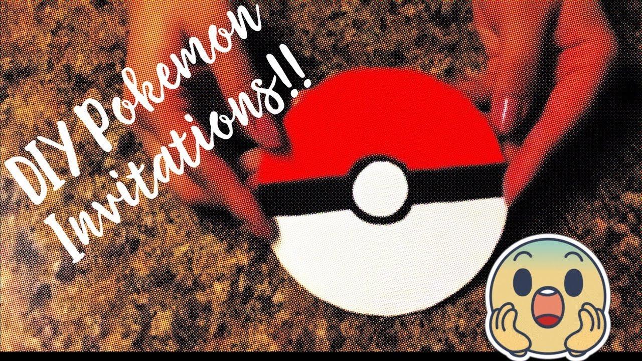 pokemon diy birthday invitations