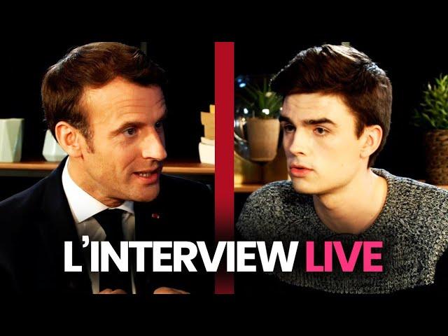 Linterview YouTube dEmmanuel Macron (replay intégral)