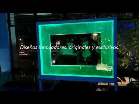 Marco para fotos iluminado con base en tecnología LED. - YouTube