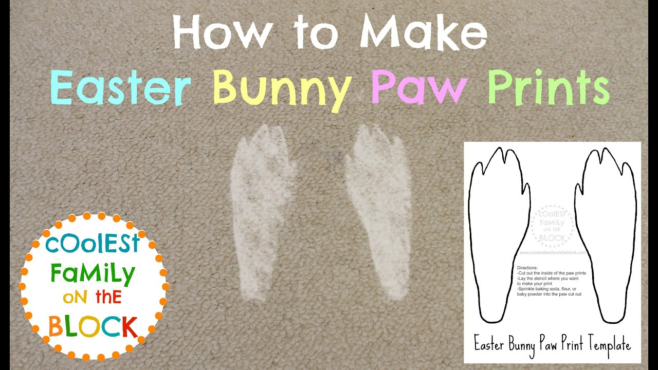 how to make easter bunny paw prints youtube