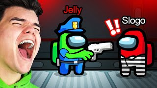 PLAYING COPS vs. ROBBERS In AMONG US! (NEW Gamemode)