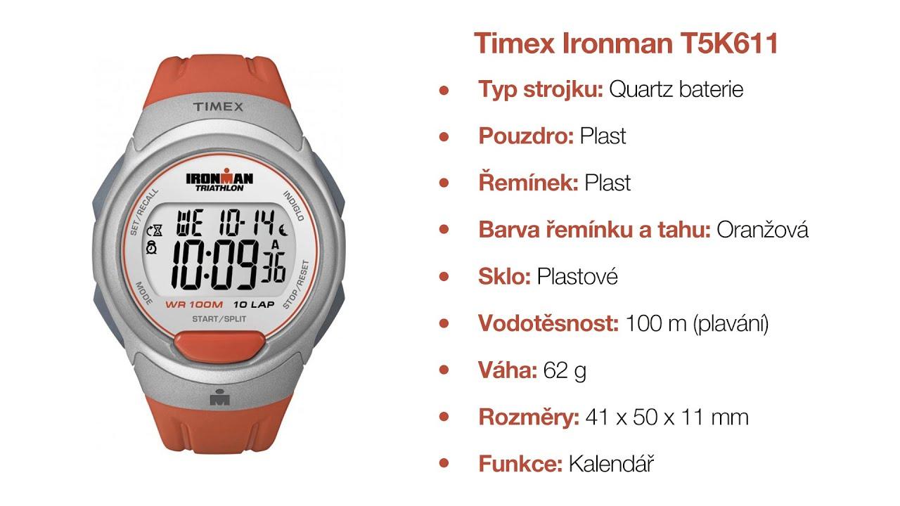 92b2cefbc Hodinky Timex Ironman T5K611 - YouTube