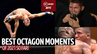 The Best Octagon Moments in the UFC in 2021 so far! Coach Khabib, Respect and Miley Cyrus!