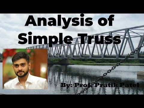 Analysis Of Simple Truss (Lecture 1)