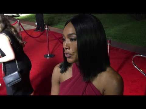 """Angela Bassett (""""American Horror Story"""") chats on 2016 Emmy acting nominee reception red carpet"""