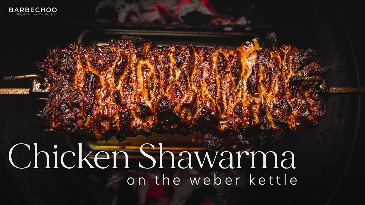 Download Chicken Shawarma on the Weber Rotisserie | Barbechoo
