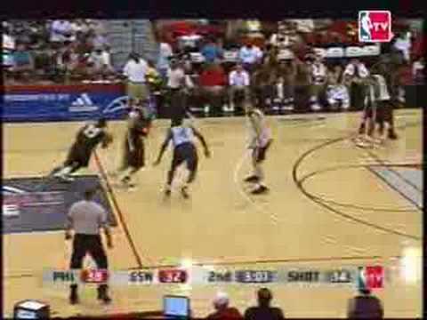 Sixers vs Warriors 2007 NBA Summer League