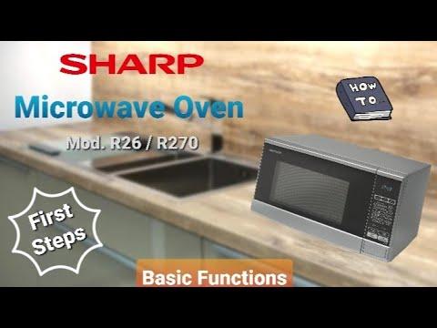 sharp microwave oven r26slm r270slm basic functions