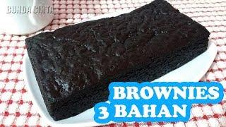 Resep Brownies 3 Bahan Yang Nyoklat Bingitzzz