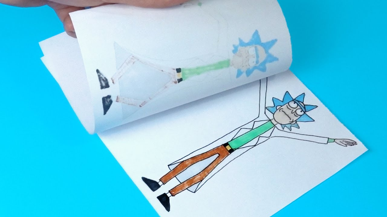 4 Amazing RICK AND MORTY Paper Craft and Doodles for FANS